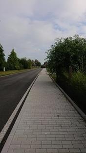 Výstavba chodníku Křenovice