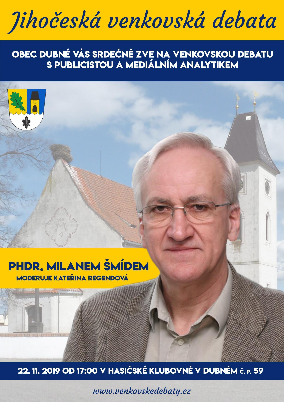 Venkovská debata s publicistou a mediálním analytikem Milanem Šmídem