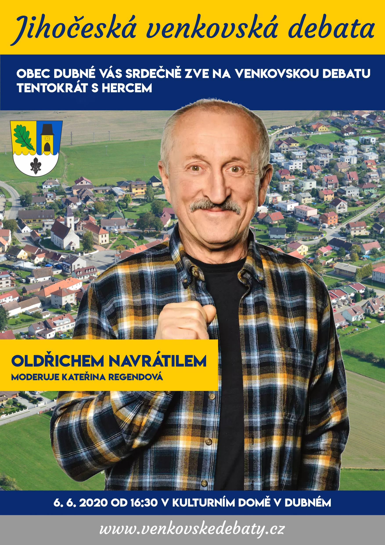 Venkovská debata s hercem Oldřichem Navrátilem
